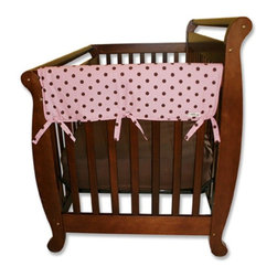 Trend Lab - Trend Lab Rail Cover - Short Maya Dot - 109056 - Shop for Crib Bumper Pads from Hayneedle.com! Rest easy knowing your daughter is safely sleeping with the Trend Lab Rail Cover - Short Maya Dot on her crib. The convertible crib rail cover is made from super-soft Sherpa fleece so it's safe for your baby and it protects the crib from teeth marks. Plus it's lightly padded with a waterproof layer so it will last. Just wrap and tie it to secure it to the crib rail. The pink polka dot design is perfect for your little girl. Trend Lab will replace any defective products within 30 days of original purchase. Dimensions: 27L x 18W x 1H inches.About Trend LabBegun in 2001 in Minnesota Trend Lab is a privately held company proudly owned by women. Rapid growth in the past five years has put Trend Lab products on the shelves of major retailers and the company continues to develop thoroughly tested high-quality baby and children's bedding decor and other items. With mature professionals at the helm of this business Trend Lab continues to inspire and provide its customers with stylish products for little ones. From bedding to cribs and everything in between Trend Lab is the right choice for your children.