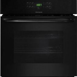 "Frigidaire - FFEW2725PB 27"" Single Electric Wall Oven with 3.8 cu. ft. Self-Clean Oven  ADA C - This Frigidaire FFEW2725P 27 Electric Built-In Wall Oven comes with Even Baking Technology that ensures even baking every timeThe bright lighting makes it easy to see whats inside Your oven cleans itself - so you don39t have to Equipped Self clean op..."