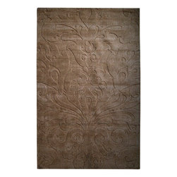 Surya Rugs - Sculpture Designer Hand Loomed 100% Wool Brown Rug SCU-7513 - 100% Wool. Style: Designer. Rugs Size: 5' x 8'. Note: Image may vary from actual size mentioned.