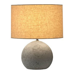 SLV Lighting - Soprana Solid TL-1 9155700U - Table Lamp | SLV - SLV Lighting Soprana Solid TL-1 9155700�_Table Lamp features�_concrete base with grey beige shade.Switch in line plug included. Manufacturer:�_SLV LightingSize:�_11.2 in.shade diameter x 7 in.�_height x 7 in. base diameter x 13.9 in. height x 6.6 ft plug length Light Source:�_1 x 23 watt 120V E26 / Selfballasted CFL/LED (bulb max length 5.1 in.) - not included Location:�_Dry Certification: ETL
