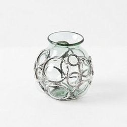 """Anthropologie - Wire Bubble Candleholder - Recycled glassVotive: 4.5""""H, 3.75""""WSmall Hurricane: 12""""H, 7.5""""WMedium Hurricane: 12""""H, 11.25""""WLarge Hurricane: 14.5""""H, 10.25""""WImported"""