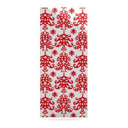 "Kess InHouse - Miranda Mol ""Ornate Trees White"" Red Holiday Metal Luxe Panel (9"" x 21"") - Our luxe KESS InHouse art panels are the perfect addition to your super fab living room, dining room, bedroom or bathroom. Heck, we have customers that have them in their sunrooms. These items are the art equivalent to flat screens. They offer a bright splash of color in a sleek and elegant way. They are available in square and rectangle sizes. Comes with a shadow mount for an even sleeker finish. By infusing the dyes of the artwork directly onto specially coated metal panels, the artwork is extremely durable and will showcase the exceptional detail. Use them together to make large art installations or showcase them individually. Our KESS InHouse Art Panels will jump off your walls. We can't wait to see what our interior design savvy clients will come up with next."
