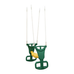Big Backyard - Glider for Swing Set - Twice the fun of a standard swing, this double-seat glider lets two children play at once. Ready for easy assembly the glider hangs from any wooden play set. Features: -Glider. -Material: Durable colorful plastic. -Rope and chain (included). -Accommodate up to 2 riders. -Attaches to single or double beam play sets. -Swing hangers sold separately.