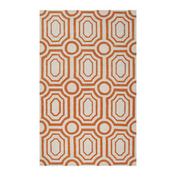 Surya - Surya Hudson Park HDP-2009 (Winter White, Golden Ochre) 8' x 10' Rug - With contemporary color scheme, Surya's Hudson Park collection is a unique blend of chic area rugs. Designed by Angelo Surmelis and hand-tufted in China this area rug is sure to be a great accent piece for any casual or formal area.