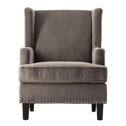 Home Decorators Collection - Vincent Wingback Chair - A wingback beauty with expert craftsmanship, our Vincent Wingback Chair adds endless style to any room in your home. The traditional design and beautiful fabrics create a piece worthy to be featured in your living room. This armchair is the perfect combination of customization, great design and affordability. Transitional design fits into any decor style. Expertly crafted for beauty and long-lasting use.