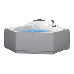 Ariel Platinum - Ariel Platinum AM168JDTSZ Whirlpool Bathtub 59x59x31 - Take a dip in this elegant whirlpool bathtub. Equipped with hydro-massage jets designed to target your pressure points for a relaxing experience.