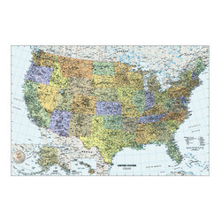 Murals Your Way - Classic USA Wall Map Vinyl Wall Decal Wall Art - Created by Vinyl Wall Decals Your Way Maps. Classic USA Wall Map wil be a great addition to any room in your home or business