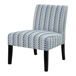 Coaster - Coaster Contemporary Style Armless Accent Chair in Leaf Pattern - Coaster - Accent Chairs - 902059 - Additional seating is sometimes difficult to find if one is seeking something truly simple yet with a decorative edge. Introducing the contemporary armless accent chair. Designed to provide seating without being over-the-top in stylish adornments, this chair features a smooth frame construction with long tapered legs and clean upholstered cushions. The tight seat cushions are comfy and supportive with a sleek and modern style, creating a fine look of contemporary tailoring.