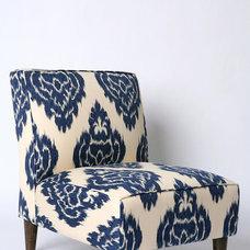 Slipper Chair - Indigo Ikat - Urban Outfitters