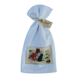 Christmas Wishes    Flour Sack Towel  Set of 2 - A fabulous set of 3 flour sack towels. This set features a wonderful antique Christmas print of Santa's Christmas Wishes.   These towels are printed in the USA by American Workers!