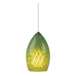 Tech Lighting - Tech Lighting 700MO2FIRTS MO2Firebird Pend parrot, sn - Patterned Murano glass surrounds a small frost raindrop glass. Includes lowvoltage, 35 watt halogen bipin lamp and six feet of fieldcuttable suspension cable.