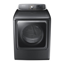 Samsung - DV56H9000EP 9.5 cu. ft. Super Capacity Electric Dryer with 15 Cycles  Steam Dry - The DV56H9000P front load dryer has a super capacity of 95 cu ft The large capcaity lets you dry any load with ease even large items like comforters and sleeping bags The different cycle will let you choose the one that suit your loadperfectly