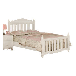 Adarn Inc. - Wooden Youth Bedroom Set White Fence, Full Size, Bed - Imagine a charming white picket fence as an entry to a beautiful country home and the style of This bedroom collection comes to life. Each corner of the head and foot boards contain a simple column-like design giving it the presence of classic style decor. This bed collection comes in both a twin and full sized frame.