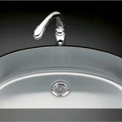 KOHLER - KOHLER K-3185-NA Undertone Large D-Bowl Kitchen Sink - KOHLER K-3185-NA Undertone Large D-Bowl Kitchen Sink
