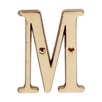 "Renovators Supply - House Numbers Solid Brass 3"" House Letter M - Made of solid brass, these polished die cast letters are made to withstand the elements. Our RSF protective finish process ensures they stay looking like new. Use them to update your home's exterior!"