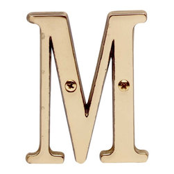"""Renovators Supply - House Numbers Solid Brass 3"""" House Letter M - Made of solid brass, these polished die cast letters are made to withstand the elements. Our RSF protective finish process ensures they stay looking like new. Use them to update your home's exterior!"""