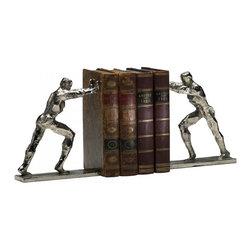 "Joshua Marshal - Silver 8.25"" Iron Man Bookends - Silver 8.25"" Iron Man Bookends"