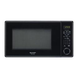 "Sharp - 1.3 Cu Ft 1000W Microwave with 12.75"" Turntable, Sensor - The Sharp Carousel R459YK 1.3 Cu. Ft. 1000W Countertop Microwave Oven, in black, makes cooking fast, easy and worry free. This roomy microwave oven has sensor cook options including potato, frozen entree and frozen vegetables. In addition to automatic settings for beverages, popcorn, reheating and defrosting, it features four soften options, an add 30-seconds key, and a convenient kitchen timer. Plus, the 12.75-inch Carousel turntable system assures even cooking and the child safety lock keeps little ones safe."
