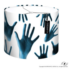 Drum Lamp Shade - Hands. - - Made to order by hand.