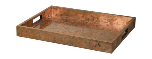 Uttermost - Uttermost 19871  Ambrosia Copper Tray - Wooden tray covered with oxidized copper sheeting. the oxidization of each piece will vary.