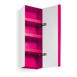 WS Bath Collections - Ciacole 8050.16 Cabinet Mirrored Door - Ciacole 8050.16 Cabinet with Mirrored Door in Pink