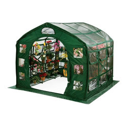 Flowerhouse - Flowerhouse Clear Farmhouse - 14331839 - Shop for Greenhouses from Hayneedle.com! Grow all your favorite flowers and plants and watch them thrive with the Flowerhouse Clear Farmhouse. This handy hothouse is made with durable poly panels and features ample screened windows for heat and humidity control. Other features include a roll back door open bottom and tie down loops for windy weather. It s easy to set up and offers plenty of space working out that green thumb.