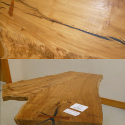 English Elm crotch wood slab - English Elm Semi Finished Tabletop. This can be viewed along with our full inventory of wood slabs on our website: www.BerkshireProducts.com