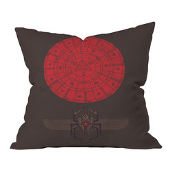 DENY Designs - DENY Designs Hector Mansilla Sacred Sun Throw Pillow - Wanna transform a serious room into a fun, inviting space? Looking to complete a room full of solids with a unique print? Need to add a pop of color to your dull, lackluster space? Accomplish all of the above with one simple, yet powerful home accessory we like to call the DENY throw pillow collection! Custom printed in the USA for every order.