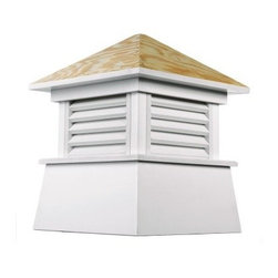 Good Directions Kent Vinyl Cupola - The Good Directions Kent Vinyl Cupola lets you add a beautiful accent to your home's roofline in a matter of minutes. This charming cupola features a square base made from sturdy vinyl planks and boards with louvered vents. The slanted roof is made from weather-resistant wood and comes designed for a weathervane installation. Paint the cupola in the color of your choice or display it as is. 18, 22, 26, 30, 36, 42, 48, 54, 60, 72, and 84-inch square units are available to choose from. Instructions for mounting the unit are included. Mounting hardware for a weathervane attachment is also included.About Good DirectionsGood Directions got its start by creating weathervanes and cupolas, but it has expanded its line to include a wide range of decorative yet functional products for the home and garden, including popular Fire Domes, rain chains, and garden weathervanes. The company continues to attract innovative artists and designers eager to lend their vision to the creation of exceptional products to enhance the home, both indoors and out. No matter which way the wind blows, you can count on Good Directions to show you the way to a beautiful home.