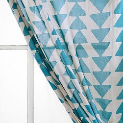 Magical Thinking Triangle Chain Curtain, Blue - Pretty and delicate curtains are a simple way to make a casual corner more of an actual living space for guests.
