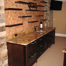 Contemporary Wall Shelves by True Carpentry and Cabinetry
