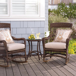 Set of Two Providence Rocking Chairs with Cushions - Frontgate, Patio Furniture