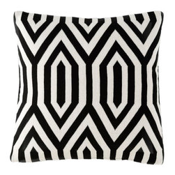 Pointed Pattern Pillow - Bold black and white makes a statement in your favorite reading chair. This stunner of a pillow is perfect for snuggling up to on a breezy evening.