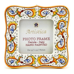 Artistica - Hand Made in Italy - Photo Frame: Perugino - Deruta Photo Frames: