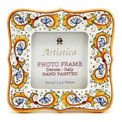 Artistica - Hand Made in Italy - Photo Frame: Perugino - Deruta Photo Frames: