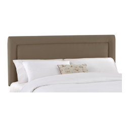 Skyline Furniture - Border Velvet Upholstered Headboard - 650-T-VELVT-APPLE - Shop for Headboards and Footboards from Hayneedle.com! The Skyline Border Upholstered Headboard has a classic look and a range of styles available to suit any bedroom. This classic headboard features your choice of colors and is available in a range of sizes to suit any bed. The height of the headboard adjusts from 51 to 56 inches to suit your space. Some assembly required. Dimensions: Twin: 41W x 4D x 51H inches Full: 56W x 4D x 51H inches Queen: 62W x 4D x 51H inches King: 78W x 4D x 51H inches California King: 74W x 4D x 51H inches About Skyline Furniture Manufacturing Inc.Skyline Furniture was founded in 1948 with the goal of producing stylish affordable quality furniture for the home. After more than 50 years this family-run business is still designing and manufacturing unique products that meet the ever-changing demands of the modern home furnishing industry. Located in the south suburbs of Chicago the company produces a wide variety of innovative products for the home including chairs headboards benches and coffee tables.