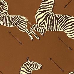 Zebras Wallpaper, Safari Brown - Scalamandre's Zebras wallpaper in safari brown.