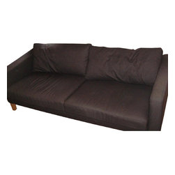 Ikea Dark Grey 3 Seater Sofa And Love Seat - Retail Price: $800