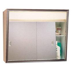 "American Pride - Medicine Cabinet Slider 24""x18"" - American Pride - 23-3/8"" Chrome Frame."