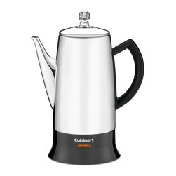 Cuisinart - Cuisinart PRC-12FR Stainless Steel Classic Percolator (Refurbished) - Classic stainless steel percolator is an ideal gift for the coffee drinker in your lifeKitchen appliance brews four to 12 cups of coffeeCoffee maker features ready-to-serve indicator light,drip-free spout,and easy-grip knob on the lid