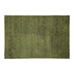 Manhattan Rugs - Hand KnottedFern Green Berber Morrocan Wool Area Trellis Design Rug H6379 - Moroccan Rug weaving began with the Berbers, who were the indigenous people of North Africa and inhabited Morocco before it was invaded by Arabs in the seventh century. These rugs are usually in bold colors and animated patterns, and the designs are almost always geometric or tribal. The colors and patterns are distinct according to the tribe that wove it. In the twentieth-century, the Moroccan Rugs are widely collected in the West because of its unique tribal patters. The wool of these rugs is plush and soft to the touch.