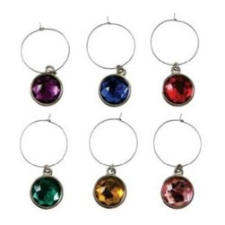 Franmara - Multi-Colored Dangle Identifying Wine Gem Charms, 6 Piece Set - This gorgeous Multi-Colored Dangle Identifying Wine Gem Charms, 6 Piece Set has the finest details and highest quality you will find anywhere! Multi-Colored Dangle Identifying Wine Gem Charms, 6 Piece Set is truly remarkable.