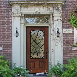 Beautiful Front Doors - One Panel Charleston Wrought Iron Decorative Front Door