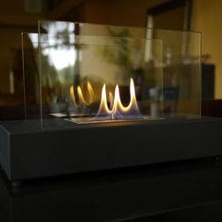 Bluworld Fountains - Cero Tabletop Fireplace -