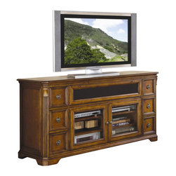 """Hooker Furniture - Hooker Furniture Brookhaven 68"""" Entertainment Console in Clear Cherry - Hooker Furniture - TV Stands - 28155476 - Brookhaven offers distinctive styling and exceptional function in a collection of fine entertainment center furniture for today's homes."""