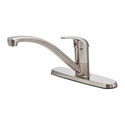 Price Pfister - Price Pfister Stainless 1-H Kitchen Faucet G134-500S - Price Pfister G134-500S Pfirst Series 1 or 3 hole installation single control (lever) kitchen faucet.