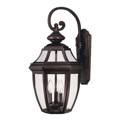 Savoy House - Savoy House 5-493-13 Endorado Wall Mount Lantern - A builder?s dream for outdoor lighting! A classic, traditional look as economical as it is versatile. English Bronze finish with Clear glass.