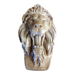 Casa de Arti - Lion Head Roaring Plaque Bracket Hanging Wall Art - Roaring Lion Plaque is perfect for any Room Decoration and at an amazing price!