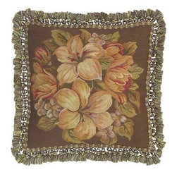 """EuroLux Home - New Aubusson Throw Pillow 18""""x18"""" Floral - Product Details"""