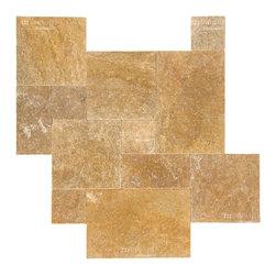 Travertine Paver - Gold Paver - STONETILEUS - Order free sample